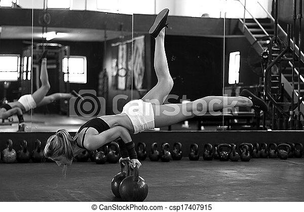 Black and white strength training - csp17407915
