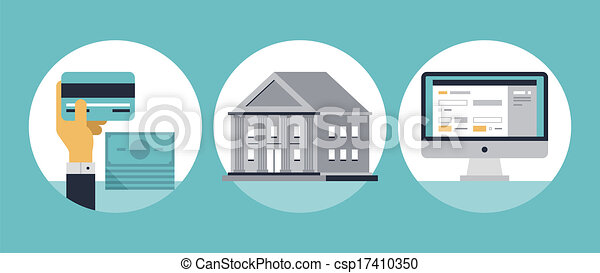 Online Banking Clipart Online Banking Flat Icons