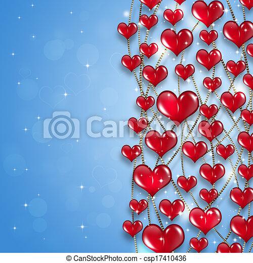 Bright Hearts Holiday Background - csp17410436