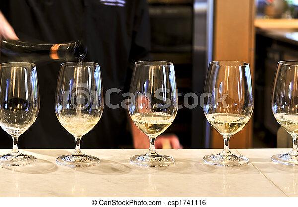 Wine tasting glasses - csp1741116