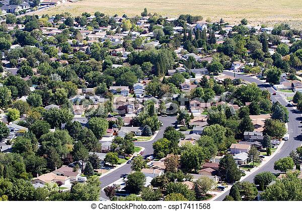 Suburbs Aerial - csp17411568