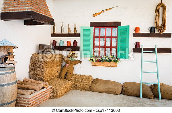 interior design of an old country house