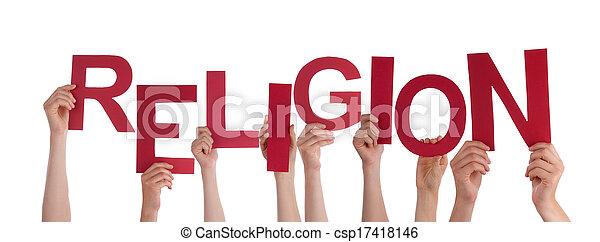 Hands Holding Religion - csp17418146
