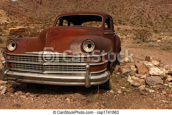 Rusted Out Old Amercian Classic Vehicle - csp1741863