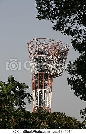Stadium Light Tower - Eden Gardens, Kolkata, India - csp1741911