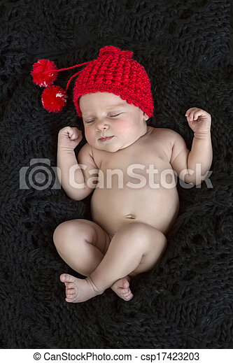 sweet dreams of a newborn baby