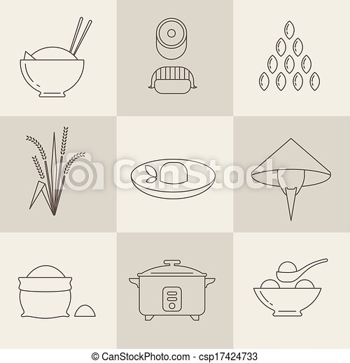 Rice icons - csp17424733