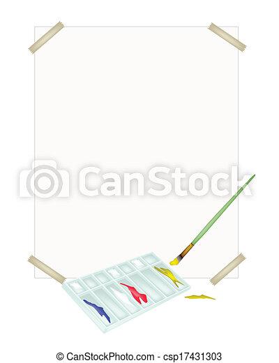 vektor farbe farbe palette b rsten leer papier. Black Bedroom Furniture Sets. Home Design Ideas