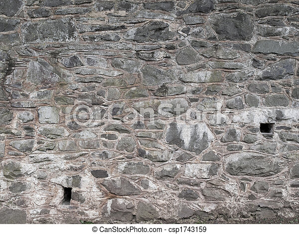 Rural style old fashions brick wall texture background - csp1743159
