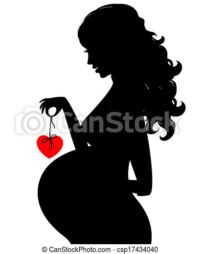 Eps Vector Of Silhouette Of Pregnant Woman Csp17434040