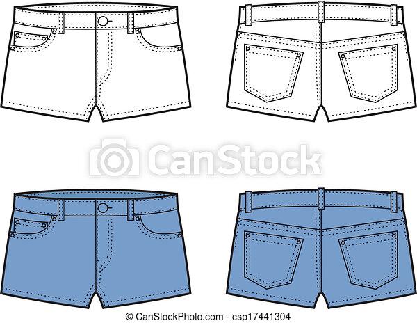 clipart vecteur de short vector illustration de jean
