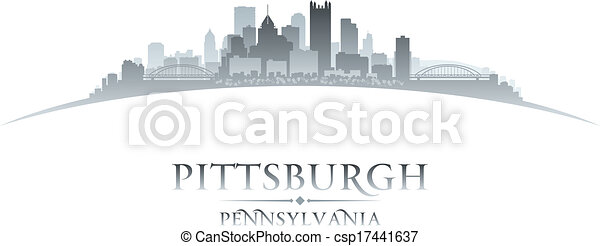 Pittsburgh Skyline Drawing Pittsburgh Pennsylvania City
