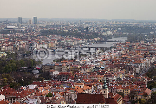 View on Prague Bridges - csp17445322