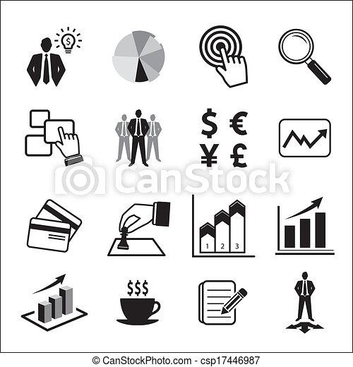 Business icons set  - csp17446987