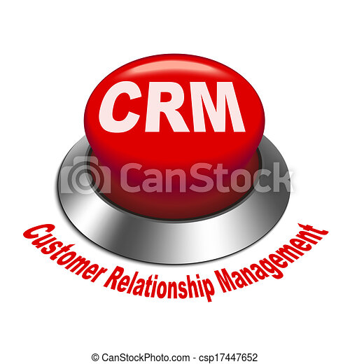 Clipart Vector of 3d illustration of crm (Customer ...