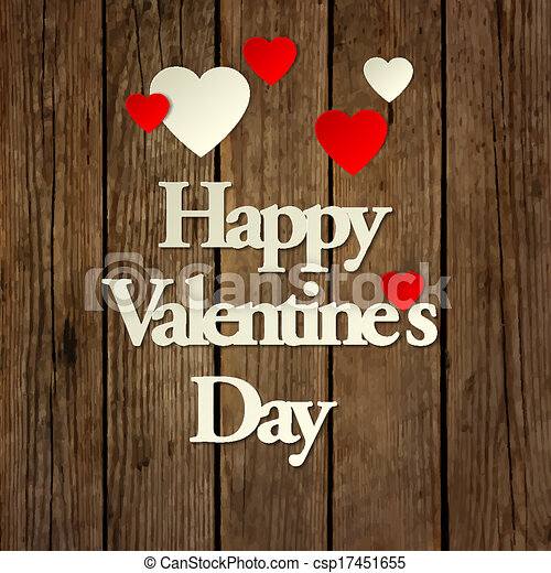 Happy Valentines day card vector background - csp17451655