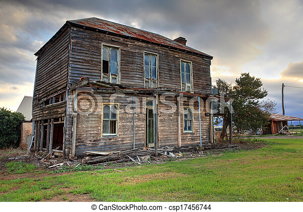 Stock Photo Of Old Abandoned Two Story Wooden Farmhouse