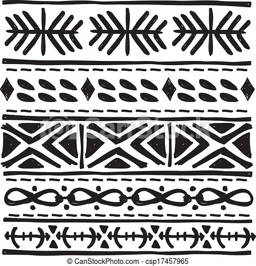 clip art vector of black tribal motif csp17457965 search clipart illustration drawings and. Black Bedroom Furniture Sets. Home Design Ideas