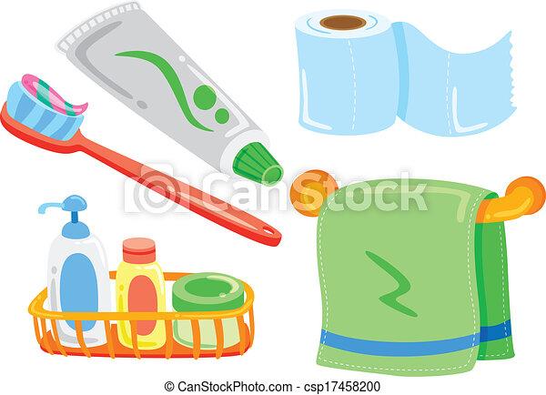 vector clipart of cartoon bathroom stuff csp17458200