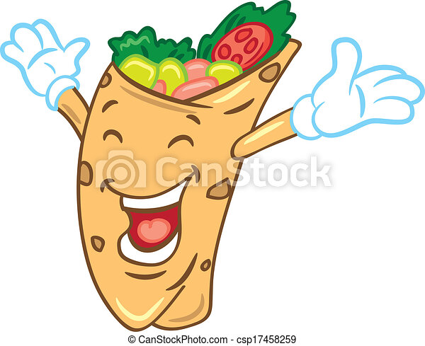 Clipart Vector of cartoon burrito csp17458259 - Search Clip Art ...