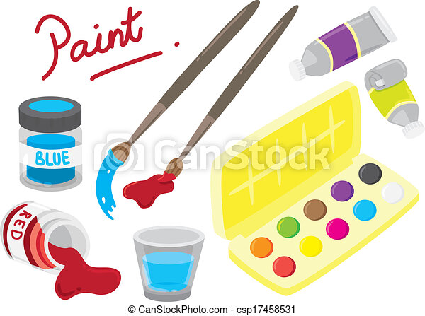 Painting Equipment Drawing Cartoon Painting Equipment