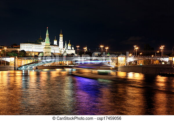 Photo - moscou, kremlin, palais, églises, moskva, rivière, grand