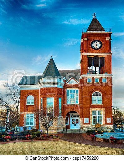 Historic small town court house  - csp17459220