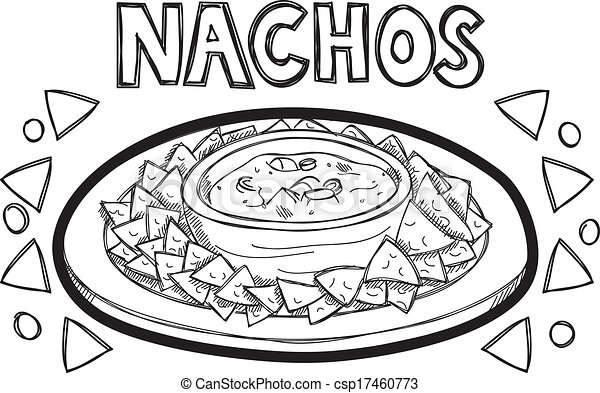 Vectors Illustration of nachos doodle csp17460773 - Search ...