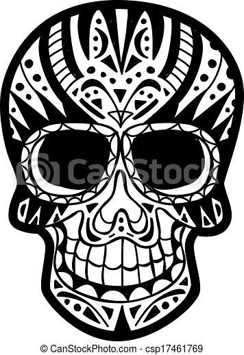 Clip Art Vector of sugar skull csp17461769 - Search Clipart ...