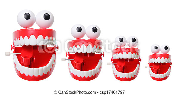 Stock Photographs of Chattering Teeth on White Background ...