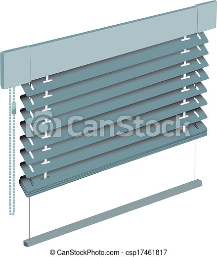 Vector Clip Art Of Sun Blinds 3d Detailed View Of