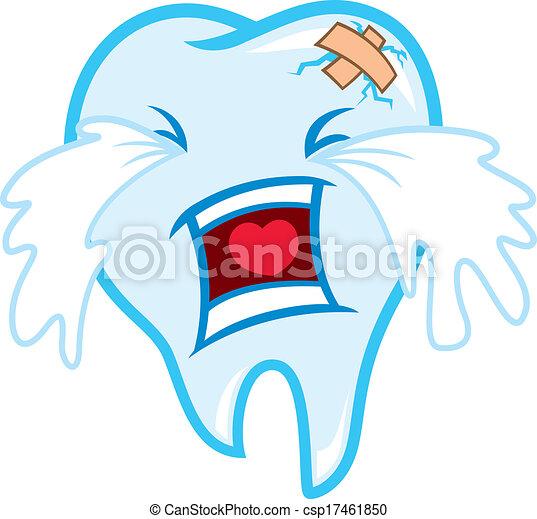 Clipart Vector of toothache cartoon csp17461850 - Search Clip Art ...