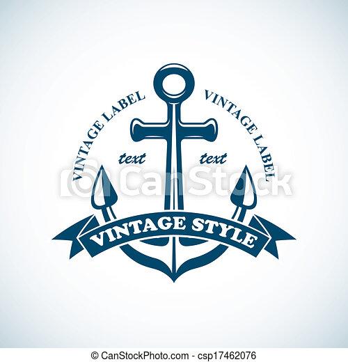 Vintage Nautical Vector Vintage Nautical Badge