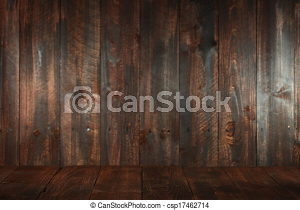 Wooden Grungy Empty Background. Insert Text or Objects - csp17462714