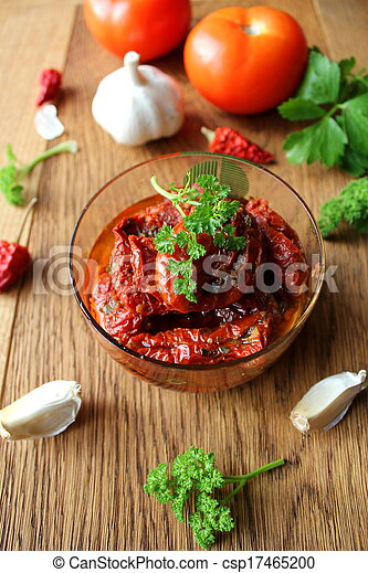 stock fotografie von sonne getrocknete tomaten mit olive oel csp17465200 suchen sie fotos. Black Bedroom Furniture Sets. Home Design Ideas