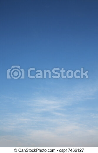 Dramatic blue sky and white clouds