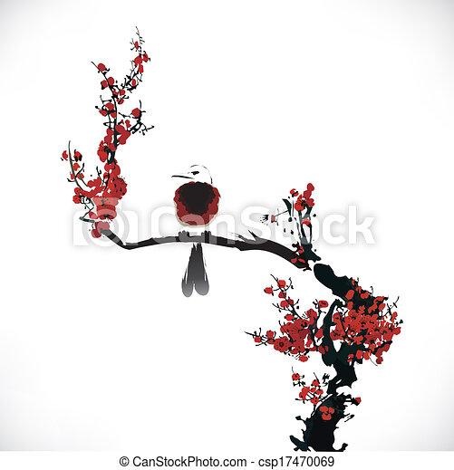 bird painting  - csp17470069