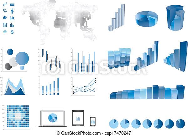 3d bar chart   finance elemtns - csp17470247