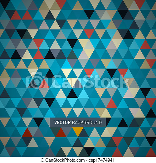 Abstract Retro Triangle Background - csp17474941