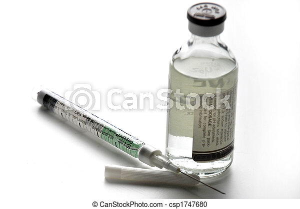 Injection Needle with Fluid Bottle - csp1747680