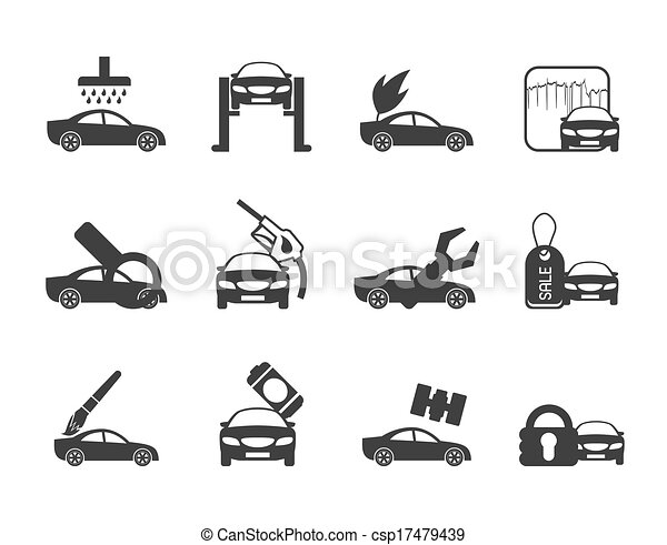 ar and automobile service icons - csp17479439