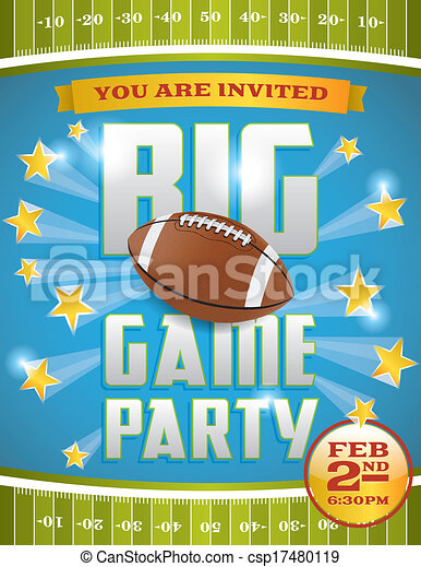 American Football Party Flyer - csp17480119