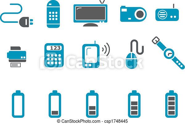 Electronic Icon Set - csp1748445