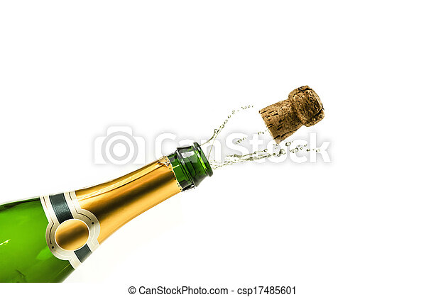 Popping champagne - csp17485601