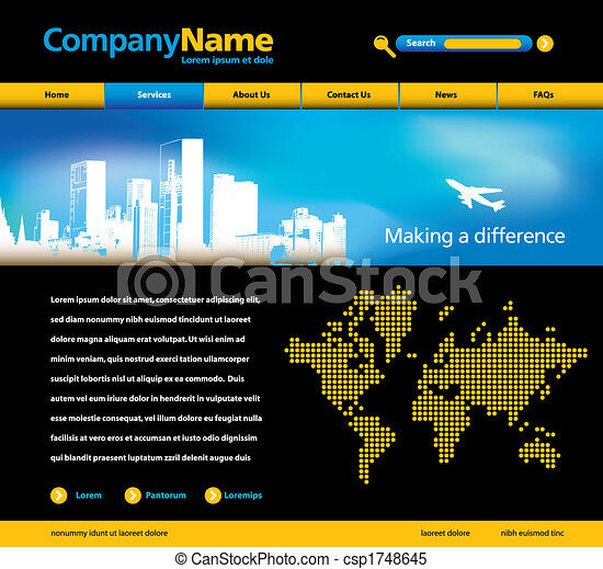 website template  - csp1748645