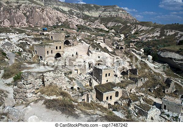 库存照片-山洞, 房子, (fairy, chimneys), cappadocia, 火鸡