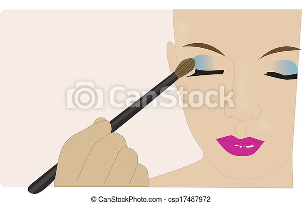 Makeup Artist Icon Makeup Artist Applying Makeup