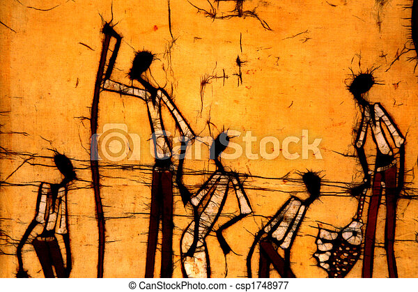 蜡防印花布, 藝術, african - csp1748977