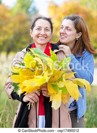 mature woman with adult daughter  - csp17490012
