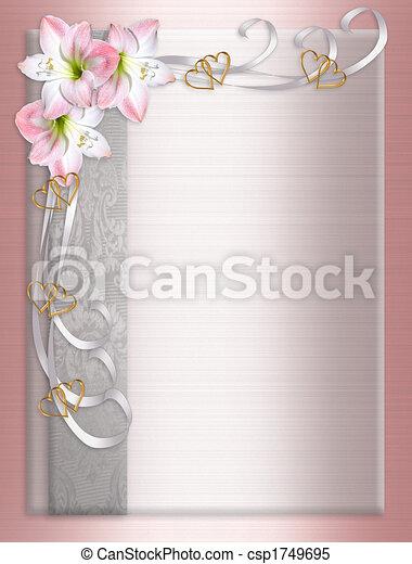 Wedding Invitation Border Satin  - csp1749695